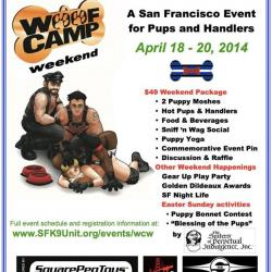 WOOF CAMP Weekend - an SF event for Pups & Handlers