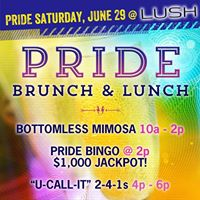 PRIDE SATURDAY BRUNCH & LUNCH
