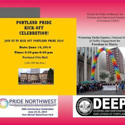 Portland Pride 2014 Kick Off at City Hall