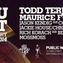 AYLI 4 Year Anniversary w/ Todd Terje LIVE, Maurice Fulton, DJ QU and more 08/22/14