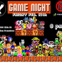 Video Gaymer Night! FEB. 12