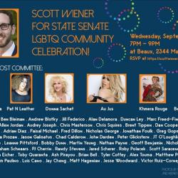 Tonight!! Scott Wiener for State Senate LGBTQ Celebration