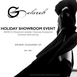 Holiday showroom event