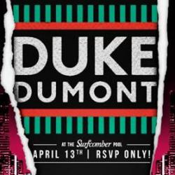 Duke Dumont at the Surfcomber Hotel Pool