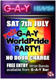 G-A-Y FREE WORLD PRIDE Party