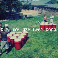 Life Size Beer Pong Tourney Sat At Hogans Beach!