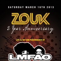 ZOUK DALLAS' 2 Year Anniversary |  Live Performance by LMFAO's Sky Blu & The Party Rock Crew
