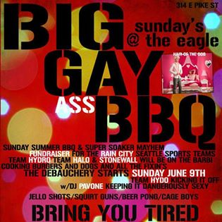 BIG GAY ASS BBQ SUNDAYS @ THE EAGLE