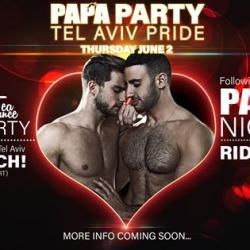 Tomorrow!!!  Papa Party - Tel Aviv Pride 2016 Powered by Scruff