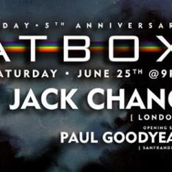 BB5 - BeatBox Pride Anniversary Party w/ Producer/DJ's Jack Chang and Paul Goodyear and Special Guest Pepper MaShay