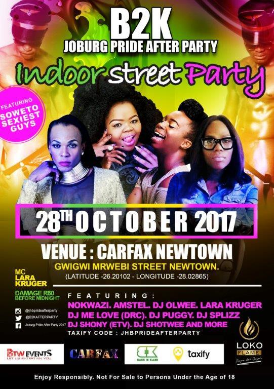 Event Jhb Pride After Party Details And Who S Attending