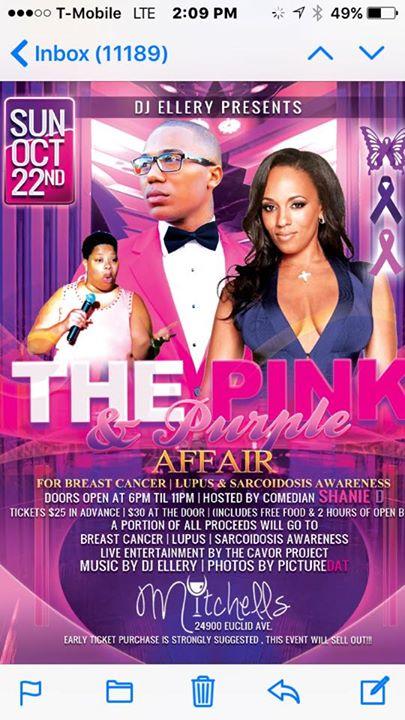 Event: Dj Ellery Presents The Pink & Purple Affair - Details